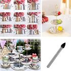Various 3 Tiers Cake Plate Stand Handle Fitting Hardware Party Tool @Crown, Oval