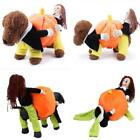 Funny Dog Pumpkin Clothes Costume Puppy Pet Cat Party Halloween Jumpsuit LJ