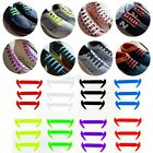 12x No Tie Silicone Shoelaces Easy Sneakers Lazy Shoelace Elastic Shoe Laces New