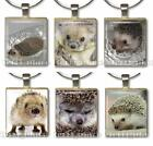 Cute Swimming Hedgehog Scrabble Tile Pendant Handcrafted Gift Charm Pick 1