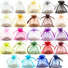 48x Premium Organza Gift Bags Pouches 6x8.5cm END OF LINE SALE! 23 COLOURS!