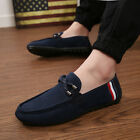 men's flat breathable gommino round toe slip on loafers driving shoes size 39-44