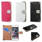 """Crocodile Credit Card Holder Wallet Cover Case For iPhone 6 6S Plus 5.5"""""""