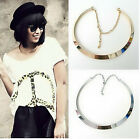 Fashion Women Gold Silver Plated Pendant Chain Choker Chunky Statement Necklace
