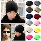 Unisex Womens Mens Knitted Knit Winter Warm Ski Crochet Slouch Hat Cap Beanie UK