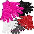 Women's gloves knitted winter lurex filaments silver gift idea new GL-091