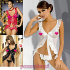 Obsessive Electra CHEMISE+TANGA baby doll babydoll edges satin women's underwear