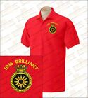 HMS BRILLIANT Embroidered Polo Shirts