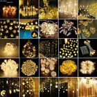 Warm White Christmas Wedding Xmas Party Room Decor Outdoor Fairy String Light