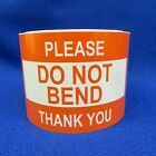"""Please Do Not Bend Thank You 2""""x3"""" - Packing Shipping Handling Warning Labels"""