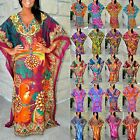 Taj Mahal Dubai Printed Boho Maxi Kaftan Dress - Animal Paisley Bali Prints S-3X