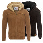 Young & Rich Herren Strickjacke Winter Gefüttert Slim Fit Jacke Hoodie Pullover