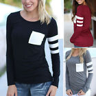 New Fashion Womens Ladies Casual Slim Fit Tops Long Sleeve T-Shirt Blouse Tee
