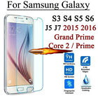 2x 9H Tempered Glass Film Screen Protector Cover for Samsung GALAXY J1-7 S3-S6