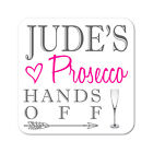 Personalised Prosecco Drinks Wooden Gift Coaster Mat Present