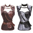 Retro Women Brocade Corsets Steampunk Corset Bustier Jacket And Belt Plus Size