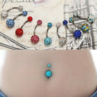 Navel Belly Button Ring Barbell Rhinestone Piercing Body Jewelry Shape JYL