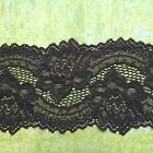 "NEW~Black Soft Stretch Scalloped Lace 3.5""/9 cm Lingerie Craft Trim"
