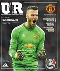 MANCHESTER UNITED v SUNDERLAND Premier League 2015/16 MINT