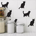 Cat Tile Stickers - Pack of 12 Cat stickers - 6 x sitting and 6 x standing cats