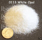 2oz WHITE OPAL FUSIBLE BULLSEYE GLASS FINE FRIT 90 COE