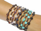 Classic Handcrafted Turquoise BEAD Fair Trade Wax COTTON Thai Buddhist Wristband