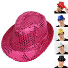 Womens Hats Mens LED Light-Up Blinking Flashing Sequin Jazz Chird Cap Hat Party