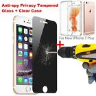 Anti-Spy Privacy Full Tempered Glass Protector +Free Case For iPhone 7 /7 Plus