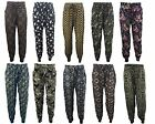 Womens Floral Patterned Paisley Print Full Length Harem Pants Trousers  M-XXL