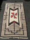 Navajo Native American Indian Rug ANTIQUE CRYSTAL REGIONAL RESERVATION RUG WORN!