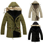 Military Mens Winter Warm Thicken Hooded Trench Coat Outerwear Casual Parka Top