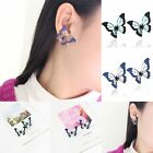 Beauty Charm Women's Hit Color Splice Hollow Butterfly Ear Stud Earrings