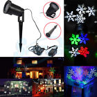 Moving Outdoor LED Light Snowflake Projector Spotlight RGB Garden Christmas Lamp
