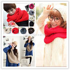 2016 Newest Infinity Two Circle Cable Knit Cowl Neck Long Scarf Shawl Men Women