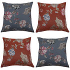Scatter Box Botanical Floral Embroidered Feather Filled Cushion