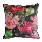 Scatter Box Alexandria Floral 100% Cotton Feather Filled Cushion, Mulberry