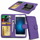 For Cubot S600 - Various Carbon Fibre Clip Wallet Case Cover