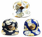 E-FLAG ROMAN EMPIRE COINS MONEY PRINT 7 PANEL HAT CAP ADJUSTABLE FLAT BILL RETRO