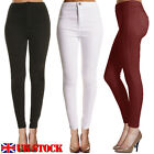 UK Fashion Ladies Women High Waisted Skinny Tube Lengging Pants Jegging Tights
