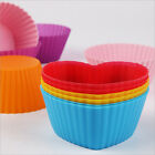 Wholesale Multi-color Silicone Cake muffin Cupcake Mold Round Shape Baking Mould