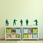 5x SOLDIERS MILITARY ARMY BOYS' ROOM Wall Art Stickers (AM13)