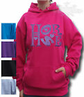 HORSE RIDING HOODIE KIDS ADULT SIZE HOODIE  *Sparkly glitter* HORSE NAME