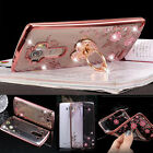 Bling Crysal TPU Gel Bumper Clear Back Shockproof Soft Case Cover For LG Phones