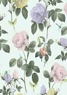 TB Flower Pink Lilac Rose Wallpaper A4 Sized Edible Wafer Paper / Icing Sheet