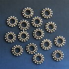 40/100/300/500Pcs 8mm Loose Wheel Style Charms Tibetan Silver Spacer Beads