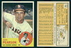 (46918) 1963 Topps 182 Albie Pearson Angels-EM
