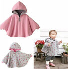 Baby Girls Pink Reversible Hooded Cloak Poncho Jackets Outwear Coat Costume 0-3T
