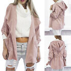 Women's Warm Hooded Long Overcoat Jackets Pink Windbreaker Outerwear S-XL Cheap