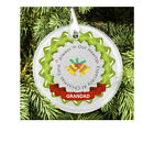 Personalised Memorial Remembrance Glass Hanging Christmas Tree Decoration