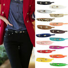 New Womens Office Lady Narrow Thin Skinny Waist Belt Waistband Buckle
